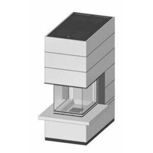 Krbová souprava Spartherm SIM Arte-U-70h-4S s parapetem jemný beton 1/3